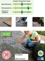 Укладка геотекстиля Plantex® Dupont Geoproma